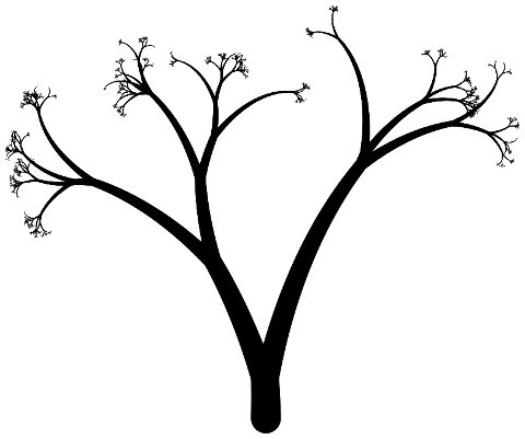 Arbre généré à partir du code de la fin du tutoriel