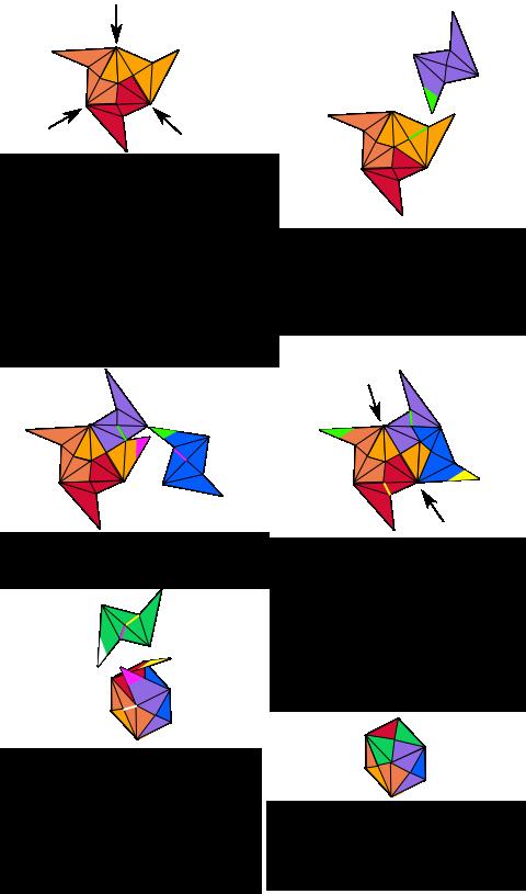 Explications pour assembler un cube à partir de modules en origami