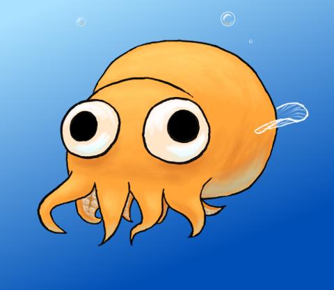 Mon dessin de calamar