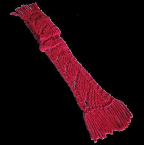 L'écharpe terminée
