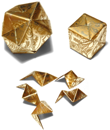 exemples de boules en origami
