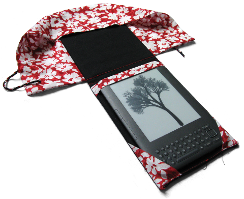 ma couverture de Kindle, ouverte