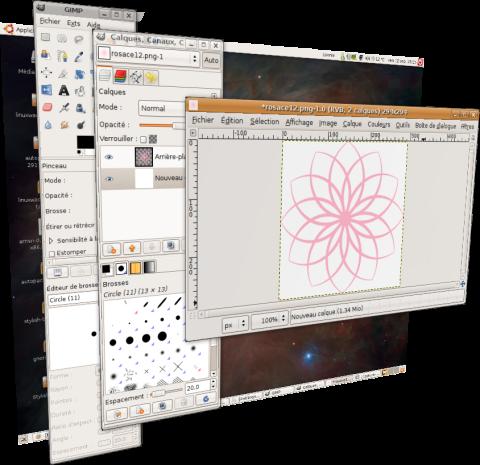 Mon bureau ubuntu en 3D